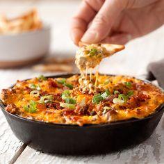 Check out this great recipe from French's: Cheeseburger Dip!
