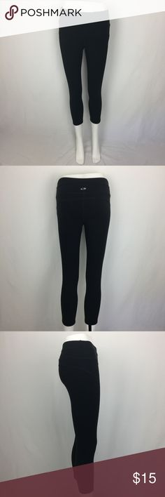 """C9 By Champion Duo Dry Black Workout Pants Small Gently used,no flaws. MATERIAL: 86%Nylon 14%Spandex MEASUREMENTS: (Please note that the measurements are approximate.) ALL MEASUREMENTS ARE TAKEN WITH GARMENT LYING FLAT: WAIST: 14"""" RISE: 8"""" INSEAM: 22"""" LENGHT: 30"""" Champion Pants Leggings"""