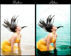 before and after with tutorial...
