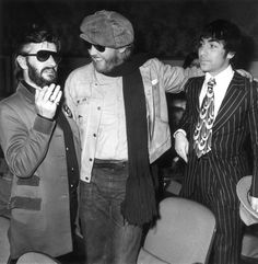 Ringo Starr with Harry Nilsson and Keith Moon  at the premiere of 'That'll Be The Day' in 1973