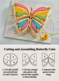 Assembling Butterfly cake #diy #kitchen #craft