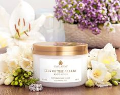 Lily Of The Valley Body Scrub now available through #JewelScent !! This floral fragrance stands out with enchanting notes of lilac and jasmine that merge to exude a soft and feminine scent that lingers.