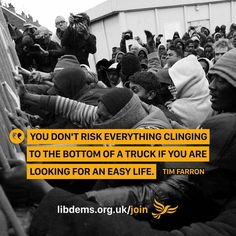 Tim Farron on Migrants, Refugees and Asylum Seekers.
