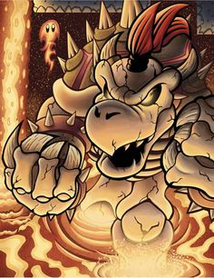 Gizmo's Art Stream: Dry Bowser by culdesackidz on DeviantArt Monster Museum, Mario Y Luigi, King Koopa, Simpson Wallpaper Iphone, Super Mario Art, Super Mario Brothers, Game Character Design, Amazing Drawings, Caricatures