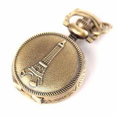 Yesurprise Antique Bronze Tone Tower Flower Quartz Pocket Pendant Chain Watch Necklace 2.5cm Yesurprise. $7.29