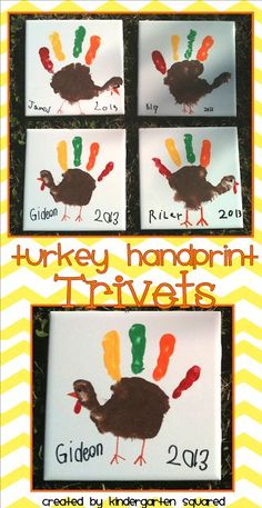Turkey Trivets...SO Stinkin' Cute!