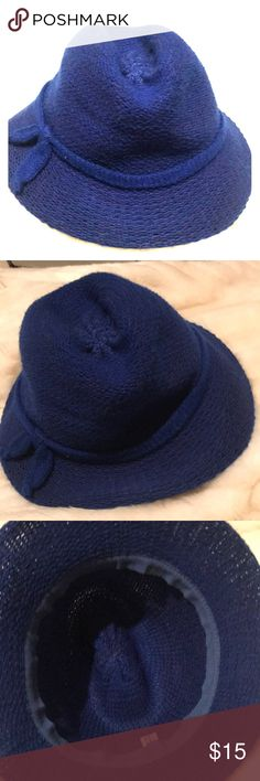a12b1e78208 Navy blue Italian woven fedora hat vintage This hat is so metro vintage and  in perfectly. Poshmark