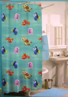 Shower Curtain Hooks, Shower Curtains, Disney Outfits, Disney Clothes, Disney Home, Finding Nemo, Jay, House, College