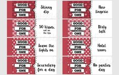 naughty coupon book 16 printable coupons for boyfriend girlfriend anniversary diy valentines
