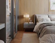 Master Bedroom on Behance Modern Luxury Bedroom, Modern Master Bedroom, Bedroom Bed Design, Luxurious Bedrooms, Wood Panel Texture, Mater Bedroom, Modern Masters, Diy Home Improvement, Apartment Design