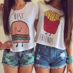 Fashion Loose best friend t-shirt