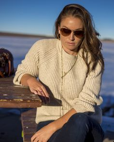 Casual Knit Achro sweater layered with my favorite Zanisimo necklace
