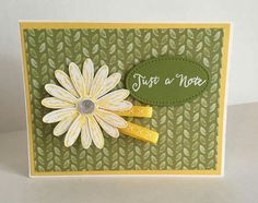 """Daisy Delight, Daisy punch, Delightful Daisy DSP, Daffodil Delight 1/4"""" Double Stitched Ribbon, Stitched Shapes Framelits, Clear Faceted Gems, White embossing powder"""