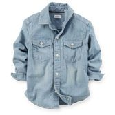 Chambray looks crisp but stays comfy on your little guy. Pair this top with Black