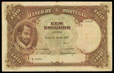 portuguese money   1920 100 escudos photo courtesy ponterio and associates
