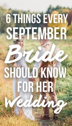 6 Things Every September Bride Should Know For Her Wedding!  If you're planning on having a September wedding, don't miss these tips, on SHEfinds. We have expert advice on how to plan the best fall wedding.