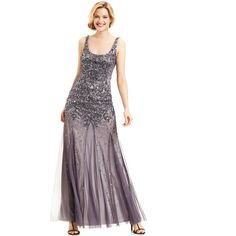 Adrianna Papell Embellished Scoop-Neck Gown and other apparel, accessories and trends. Browse and shop related looks.