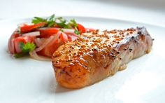 Trout with honey and mustard