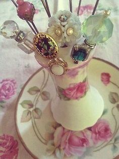 Hat Pins and Holder