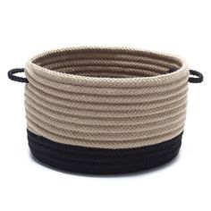 Tidying up is easy when you have the stylish Colonial Mills Marina Round Basket at your beck and call. This round basket features a spacious interior. Storage Containers, Storage Baskets, Round Basket, Tidy Up, Interior Exterior, Joss And Main, Outdoor Storage, Color Pop, Color Black