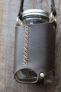 Ready to ship in 3-5 business days. You will receive a mason jar sling like the one pictured.  Hand made leather mason jar sling in flexible,
