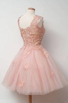 pink dress lace