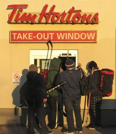 Welcome to Canada!  Tim Hortons is an extremely popular coffee shop with a very devoted following.