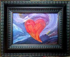 Abstract heart painting print by Quinn Lockman DesignandArtwork