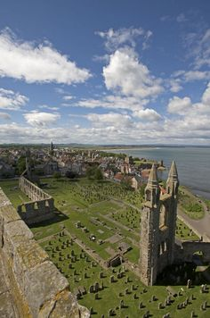 The remains of what was Scotland's largest and most magnificent church still show how impressive St Andrews Cathedral must have been in its prime. Visit St Andrews Cathedral in and climb St Rule's Tower by pre-registering online for our Ticket Givea Oh The Places You'll Go, Places To Travel, Places To Visit, England And Scotland, Fife Scotland, St Andrews Scotland, Scottish Castles, Photos Voyages, Scotland Travel
