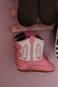 This baby shoe rack is genius!
