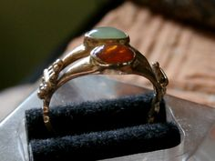 Rare Antique Early Stuart Era 20crt Gold Ring Unusual Double