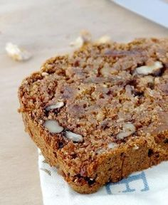 Date bran walnut fig loaf Good Morning Breakfast, Desserts With Biscuits, Breakfast Snacks, Bread And Pastries, Dessert Bread, Sweet Bread, Cooking Time, Love Food, Baking Recipes