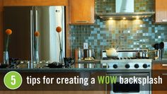 """KCK kitchen remodeling ideas: A kitchen backsplash is one of those distinctive elements that when executed well, provide that """"wow"""" factor to any kitchen. Since many backsplashes are usually positioned behind the range, think of it as the focal point of your kitchen."""