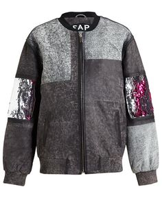 FILLES A PAPA | Vintage Leather Bomber Jacket