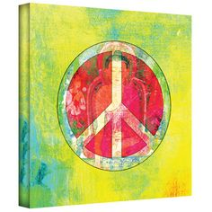 @Overstock.com.com - Artist: Elena Ray Title: Peace Sign Product type: Gallery-wrapped Canvashttp://www.overstock.com/Home-Garden/Art-Wall-Elena-Ray-Peace-Sign-Gallery-wrapped-Canvas/7873844/product.html?CID=214117 $50.99