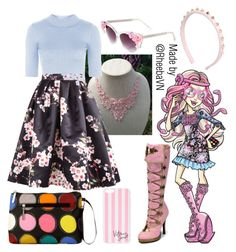 """Viperine Gorgon (Monster High)"" by rheebavn ❤ liked on Polyvore featuring mode, claire's, Kalencom, Demonia, Valentino, Topshop et Victoria's Secret"