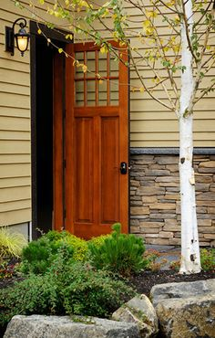 Craftsman Style Exterior Wood Door | Shown in Douglas Fir
