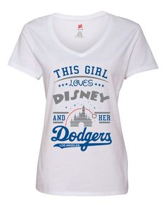 3a3d99ad7ebf Girl loves Disney and her Los Angeles Dodgers by TrueImageArt