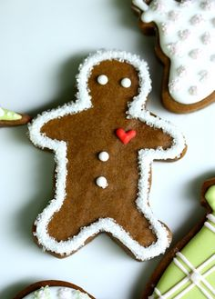 So funny! simple gingerbread man cookie