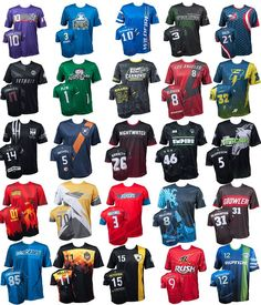 Ultimate frisbee team uniforms