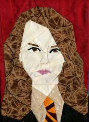 Hermione (2) Paper Pieced Block free pattern on Fandom in Stitches at http://www.fandominstitches.com/2011/05/harry-potter.html