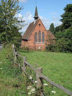 Church near Hemingfold Grange, Sussex, Great Britain.