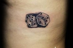 Tattoo dice is a good suggestion for your small tattoo. Small tattoos can be a great tattoo idea as well.