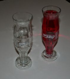 Recycled Coke Bottle Glasses With Logos by WestArtAndGlass on Etsy, £8.50 - These are cool!