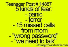 Especially when you make a new password and you forget it...