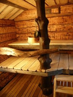 A log sauna by Wanha Warikko