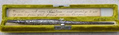 Sterling Silver Dip Pen Frank T Pearce Co. Rare Victorian-Era Old Case & Note #FTPearce
