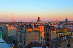 The Sun sets over Riga. Beautiful!
