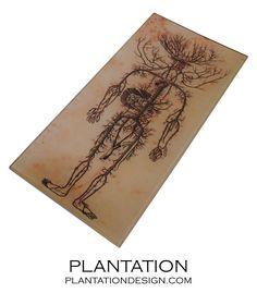 Skeletal Decoupage Tray