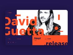 David Guetta Main Page Concept by Yaroslav